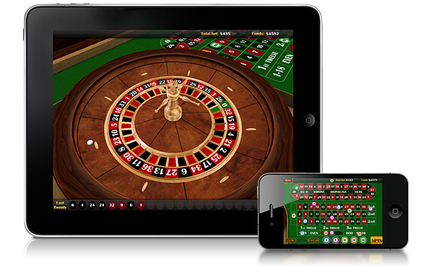 Screenshot van iPad Roulette